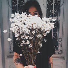 no rain, no flowers ❁ // My Flower, Wild Flowers, Beautiful Flowers, Daisy Flowers, Floral Flowers, Florals, Plants Are Friends, No Rain, Mother Nature
