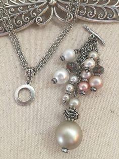Pearl and Crystal Chain Dangle – Bead Dangle Design