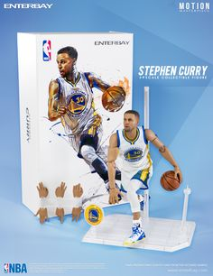 ccc7a9eaed18 NBA Stephen Curry Motion Masterpiece Action Figure - Enterbay - Sports   Basketball - Action Figures at Entertainment Earth