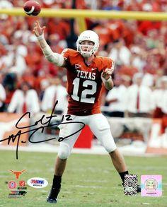 Colt McCoy Autographed 8x10 Photo Texas Longhorns PSA/DNA #M90003