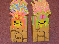 Kings of Israel and Judah.  Door Hangers turned Review Games.  Tissue Box Castles for Storage.  Hands On Bible Teacher