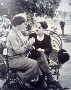 Helen Keller and Charlie Chaplin.   Two of the greatest communicators in history.