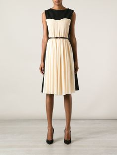 DAVID SZETO - bi-colour sleeveless dress 8