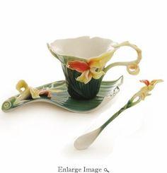 Franz Brilliant Blooms Cup & Saucer Set