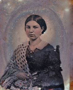 1/9th-Plate Relievo Ambrotype of Unknown Woman Wearing a Mourning Brooch, circa 1858 | Flickr - Photo Sharing!