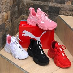 Right now i have no more pink due to my locals. Faster shipping And communication feel free Puma Shoes Sneakers Red Puma Shoes, Puma Shoes Women, White Nike Shoes, Nike Air Shoes, Pumas Shoes, Cute Sneakers, Girls Sneakers, Sneakers Fashion, Fashion Shoes