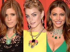 Necklaces Kate Mara, Jessica Stam, Sofia Vergara, CFDA Fashion Awards