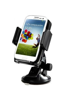 Sticks like magic to wherever you want it to.  iClever ICH02 360 Degree Rotation Universal Windshield & Dashboard Car Mount Cradle Holder for Samsung Galaxy Note 3 /Note 2, Galaxy S4/...