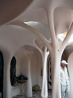 Dig in to this site. Unbelievable forms sculpted in concrete. photo from Art Nouveau House by Flying Concrete