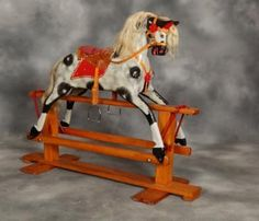Vintage Collinson Rocking Horse Birthday Christmas Antique Rocking Horses | eBay