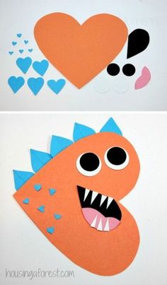Heart Dinosaur Craft