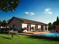 Rodinný dům 105 | Dřevostavby - Montované dřevostavby na klíč - MARTINICE GROUP Home Fashion, Arches, Cabin, Mansions, House Styles, Outdoor Decor, Home Decor, Dreams, Future