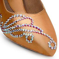 BeSparkle Crystallized Design PT517 | Dancesport Fashion @ DanceShopper.com Ballroom Jewelry, Latin Ballroom Dresses, Ballroom Dance Dresses, Latin Dance Shoes, Tango Dress, Bling Shoes, Decorated Shoes, Dance Outfits, Bridal Shoes