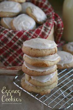 Eggnog Cookies from Jen's Favorite Cookies  - use prepared eggnog to make these soft seasonal holiday cookies.