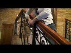 Ресторан Ля Мур - Украшаем тканью лестницу