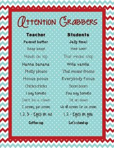 Fun (new ones) attention getters FREEBIE