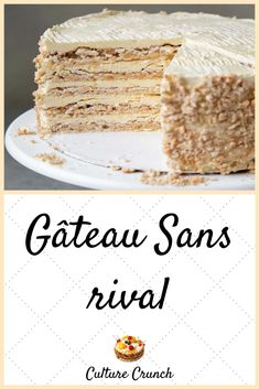 Sans Rival, Meringue Pie, Pie Recipes, Cheesecakes, Macarons, Vanilla Cake, Biscuits, Deserts, Food And Drink