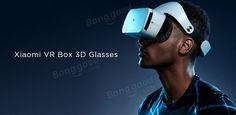 Vr óculos virtual realidade headset com controle remoto para celular Xiaomi original