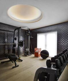I travel a lot between Toronto, New York, and South America, and Miami is where I come for some real R&R. That includes, hopefully, time to work out. This fitness area is set away in the corner of the house, and having it be secluded allows me to focus on nothing else.