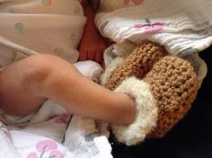 Crocheted Baby 'Uggs'.