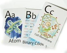 """Nerdy baby flash cards. In the words of my friend Emily, """"I WILL impose these on my children."""""""
