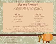 Fall mini sessions