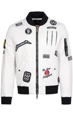Bomber léger The New Designers overy BLANC