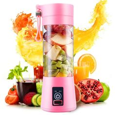 Fruit-Vegetables Juicer Travel Mug -New Arrival Portable Home USB Rechargeable with Electric Fruit Extractor Juice Blender and Travel Mug. Good to prepare all kind of beverages; Fruit And Vegetable Juicer, Fruit Juicer, Vegetable Drinks, Fruit Blender, Juicing With A Blender, Juice Blender, Juice Cup, Mini Blender, All Fruits
