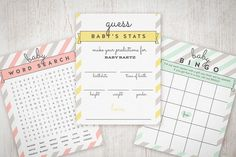 Free Printable Friday: Baby Shower Games | The Little Umbrella