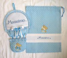 Completo personalizzato per la nascita di Massimo;  sito web:http://lecreazionidimichela.it.gg/home.htm- video:https://youtu.be/vde4nrzd5fa