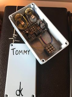 Here is a Tommy build I did a while back, really great pedal, very versatile. Diy Guitar Pedal, Guitar Pedals, Using Acrylic Paint, Community