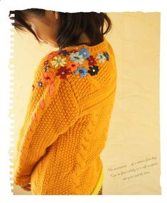 Embroider thrift store cardigan