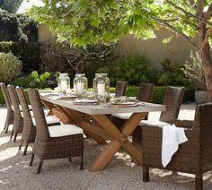 Abbott Zinc Top Rectangular Dining Table | Pottery Barn