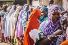 Since the beginning of 2015, the North-East of Nigeria has witnessed an increase in violence conducted by Boko-Haram. The result is a major humanitarian crisis. There are an estimated 7 million people in need of humanitarian assistance in Nigeria. Many of those in need are women. Most have endured great hardship and travel far to patiently stand in line for distributions of humanitarian relief. Photo: @Muse_Mohammed #ResilientWomen