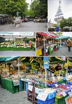 The incredible Open-Air Viktualienmarkt in central Munich