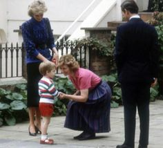 prince charles before diana | The Prince and Princess of Wales escorting Prince William to his first ...