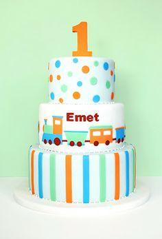 Eat Cake Be Merry: Birthday Train Cake Baby Birthday Cakes, Baby Boy Cakes, 1st Boy Birthday, Cakes For Boys, Birthday Ideas, Pretty Cakes, Beautiful Cakes, Amazing Cakes, Cupcakes