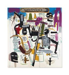 Jean-Michel Basquiat (1960-1988) | Saxaphone | 1980s, Paintings | Christie's