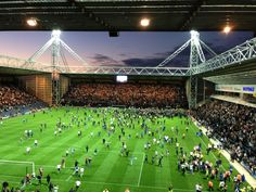 Derby day celebrations at Deepdale.