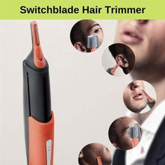 2 in 1 switchblade hair trimmer - Care - Skin care , beauty ideas and skin care tips Beauty Skin, Hair Beauty, Beauty Makeup, Hair Makeup, Beard Colour, Hair Cutter, Beard Trimming, Tips Belleza, Hairstyle Tutorials
