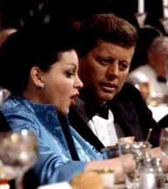 Judy Garland and JFK at 1960 Democratic Convention in Los Angeles.