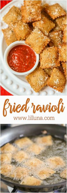 Fried Ravioli - one of our favorite side dishes or appetizers when serving Italian food!