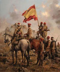 REGULARES Momentos después de la toma del Monte Gurugu (Melilla) por las fuerzas Regulares.