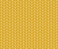 chevron golden yellow fabric by charlottewinter on Spoonflower - custom fabric