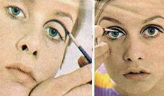 Twiggy Makeup and Haircut. How 16 year old Leslie Hornby became Twiggy. How she developed her makeup look, her famous crop and who really discovered her 1960s Makeup, Twiggy Makeup, Make Up Looks, Flapper Hair, Mod Girl, Raised Eyebrow, Brown Eyeliner, Yellow Hair, Rainbow Hair