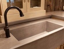 Cast Concrete Sink Concrete Sinks JM Lifestyles Randolph, NJ