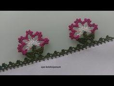 Çiçekli Oya Modeli - YouTube Creative Embroidery, Needle Lace, Crochet Projects, Diy And Crafts, Ribbon, Flowers, Jewelry, Youtube, Crochet Decoration