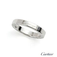 Cartier 18k White Gold Lanieres Wedding Band B4045000  http://www.richdiamonds.com/product/cartier-18k-white-gold-lanieres-wedding-band-b4045000/5501