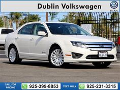 2012 Ford Fusion Hybrid  4D Sedan $13,750 84475 miles 925-399-8853 Transmission: Automatic  #Ford #Fusion Hybrid #used #cars #DublinVolkswagen #Dublin #CA #tapcars