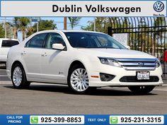 2012 Ford Fusion Hybrid  4D Sedan $13,750 84475 miles 925-399-8853 Transmission: Automatic  #Ford #Fusion Hybrid #used #cars #DublinVolkswagen #Dublin #CA #tapcars